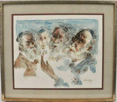 Chaim Gross: Rabbinic Conversation