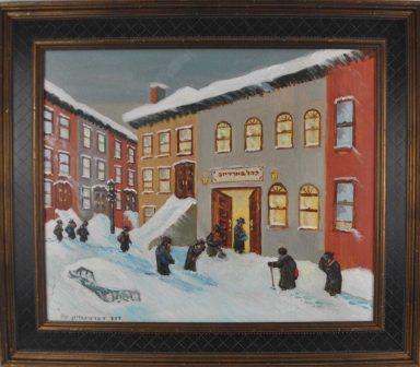 Praying on a Snowy Day by Dovid Dershowitz