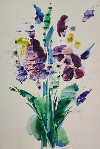 Purple and Blue for You by Elena Boukingolts