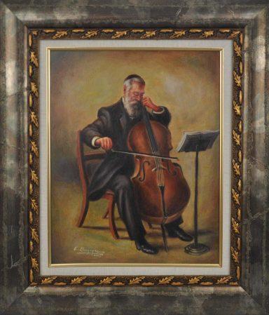 Cello Player by Elie Benzaquen