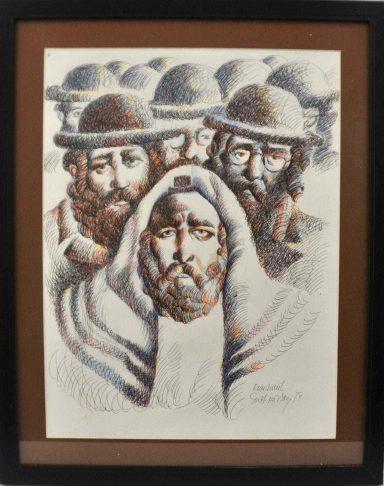 Rebbe and Chasidim by Emmanuel Snitkovsky