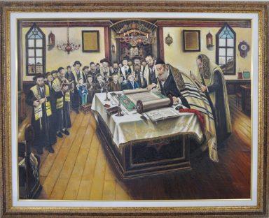 Irving Schlussel: Purim Megillah reading