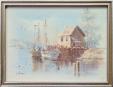 John Luini: Fishing boat on dock