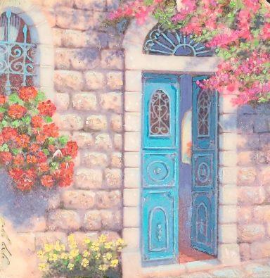 Old City Doorway by Miki Karni