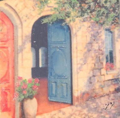 Vintage Doorway by Miki Karni