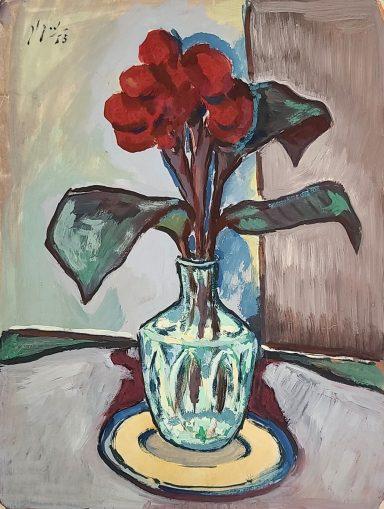Crystal Vase by Nahum Kook