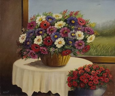 Basket of Spring by Nurit Granot