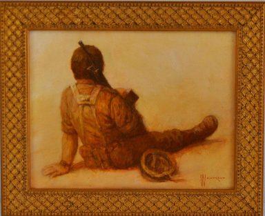 Soldier in Conteplation by William Weintraub