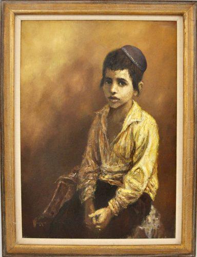 Young Jewish Boy by William Weintraub