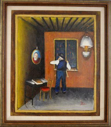Gazing Out the Window by Yitzchak Roman