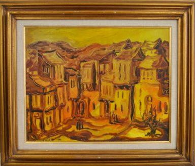 Shtetl in Orange by Yossi Stern