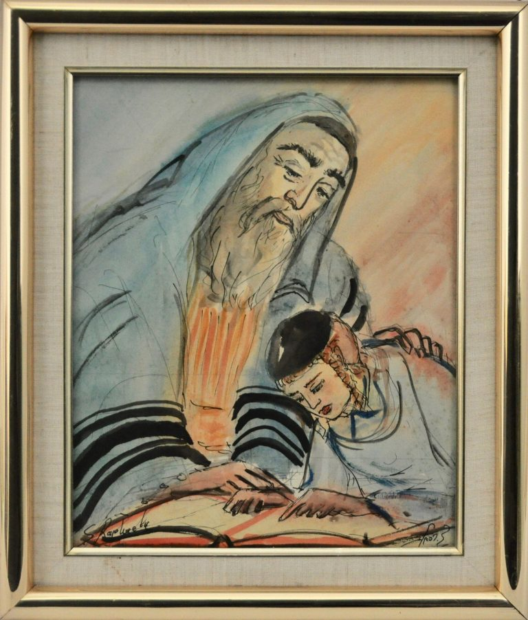 Father and Son Praying by Zvi Raphaeli