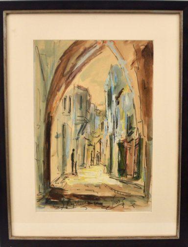 Old City Streets by Zvi Raphaeli