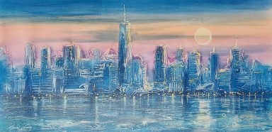 Giclee on Canvas 24 x 47.5 in by Janos Kardos