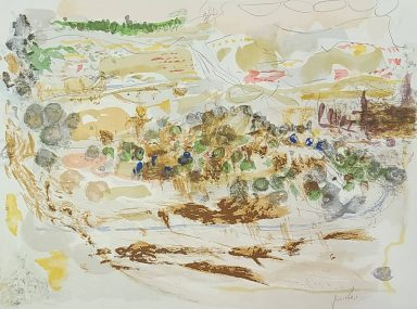 Serigraph on Paper 18 x 24 in by Yehezkel Streichman