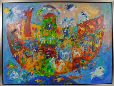 Giclee (Embellished) on Canvas 36 x 48 in by Ben Avram