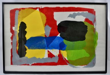 Serigraph on Paper 26 x 39 in by Unknown Artist