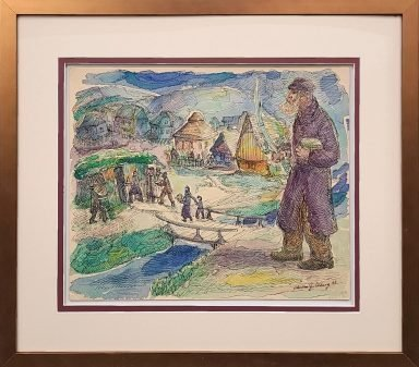 Heading In To The Sukka by Chaim Goldberg