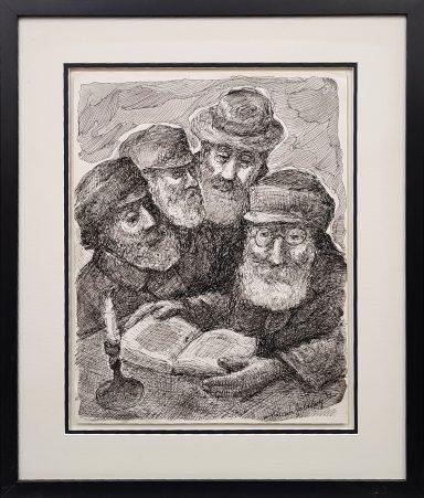 Learnig Torah By the Candlelight by Chaim Goldberg