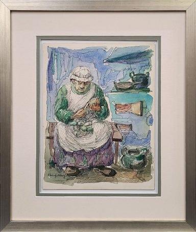 Preparing For Shabbat by Chaim Goldberg