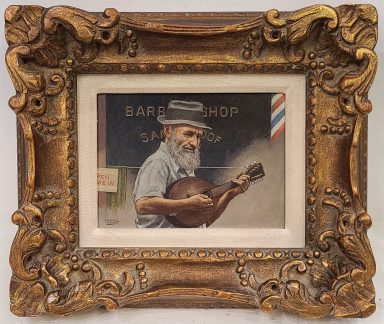The Banjo Player by Emanuel Schary