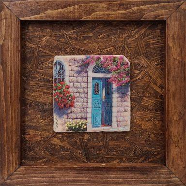 Doorway In Tzfat by Miki Karni