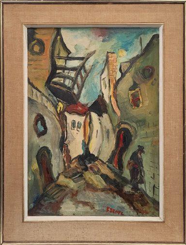 Old City Safed by Yitzhak Frenkel Frenel